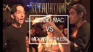 SEANO MAC VS MICKY WORTHLESS | Don't Flop Rap Battle