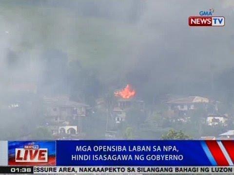 NTVL: Mga opensiba vs. NPA, hindi isasagawa ng gobyerno
