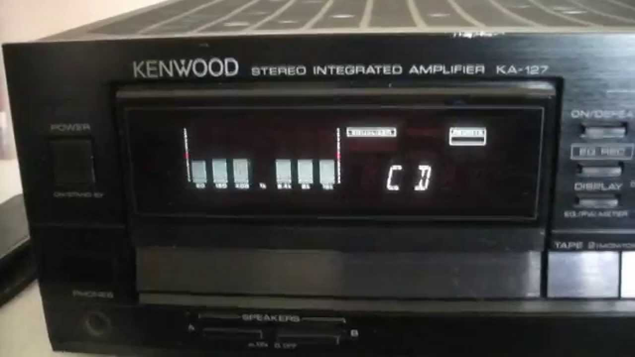kenwood ka 127 stereo integrated amplifier youtube rh youtube com Kenwood KA 9100 Amplifier Kenwood KA 7100 Amp