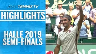 Federer Cruises Into 13th Halle Final; Goffin Awaits   Halle 2019 Semi-Final Highlights