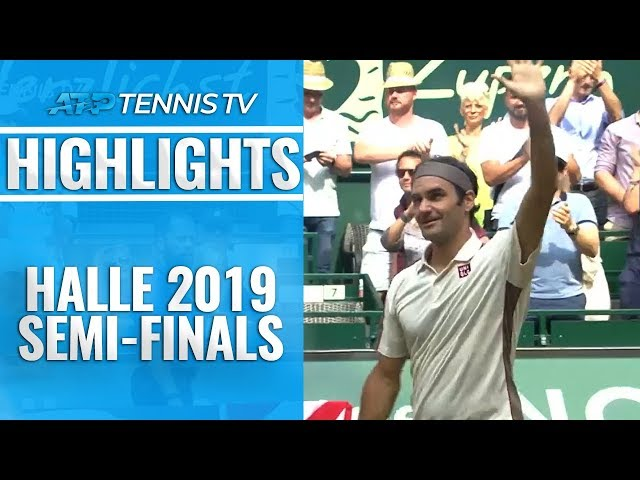 Federer Cruises Into 13th Halle Final; Goffin Awaits | Halle 2019 Semi-Final Highlights