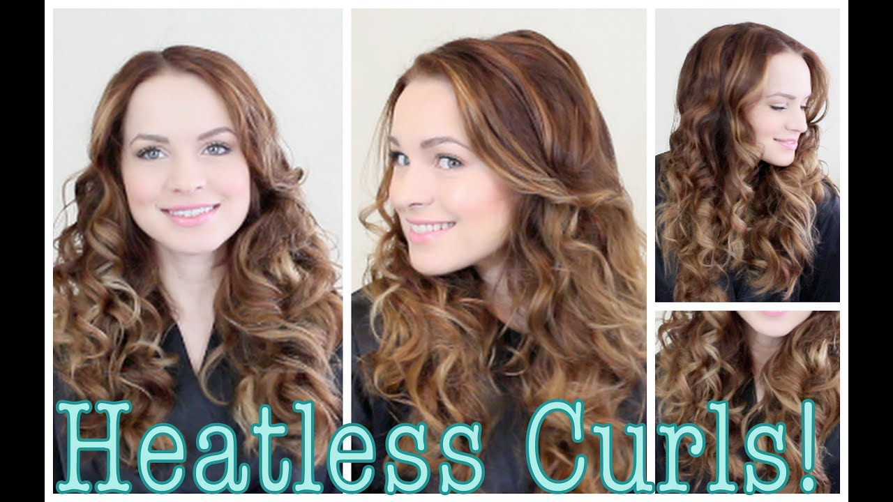 Easy Heatless Curls Tutorial Youtube