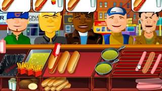 Fun time playing with cooking hot dogs games and serve food to customers