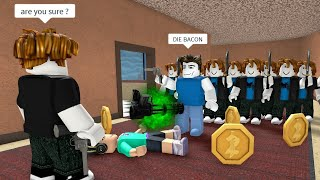 ROBLOX Murder Mystery 2 FUNNY MOMENTS (BACON 3)