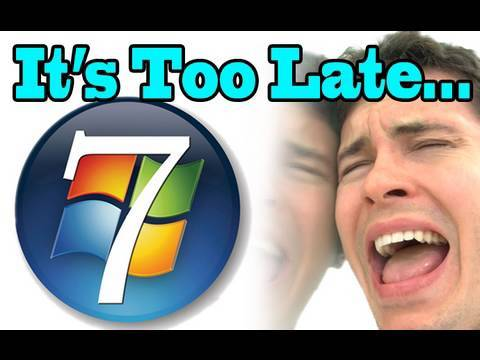 """Too Late, Windows 7""  - OneRepublic feat. Timbaland - ""Apologize"" Parody"