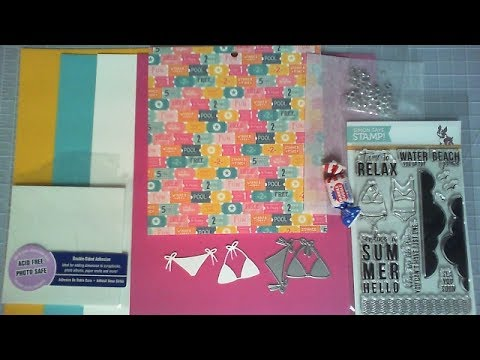 Delightful Unboxing Summer Hello / Simon Says Stamp Card Kit / July 2017 / Cu0026CT