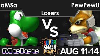SSC16  - VGBC | aMSa (Yoshi) vs CLG | PewPewU (Fox) Losers - Melee