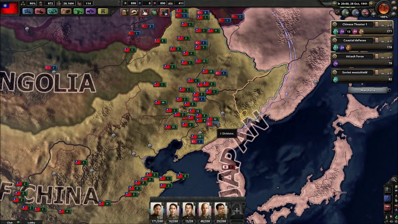 Hoi4 MP in a nutshell Full episodes #19(The chinese horde
