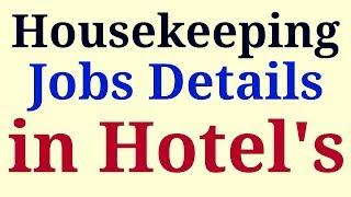 HOUSEKEEPING JOBS IN HOTEL