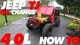Jeep TJ Oil Change 4.0L | How To