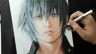 DRAWING CHALLENGE | Noctis Lucis Caelum | Final Fantasy XV