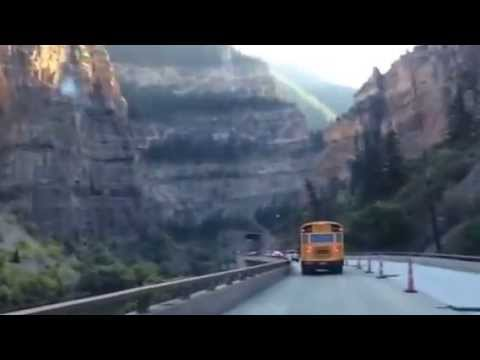 Driving though Glenwood Canyon in Colorado - I70 Westbound