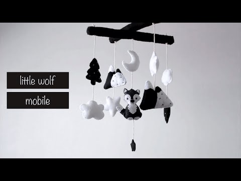 DIY Little Wolf Baby Mobile