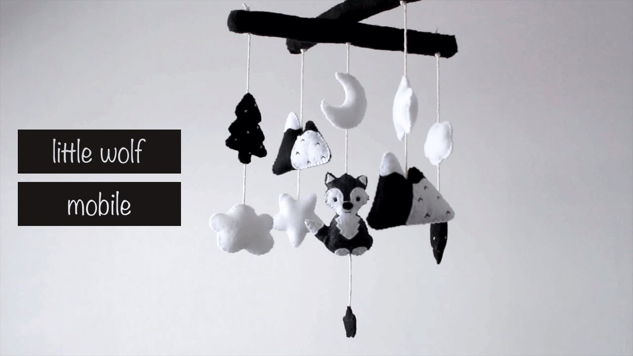 Diy little wolf baby mobile   youtube