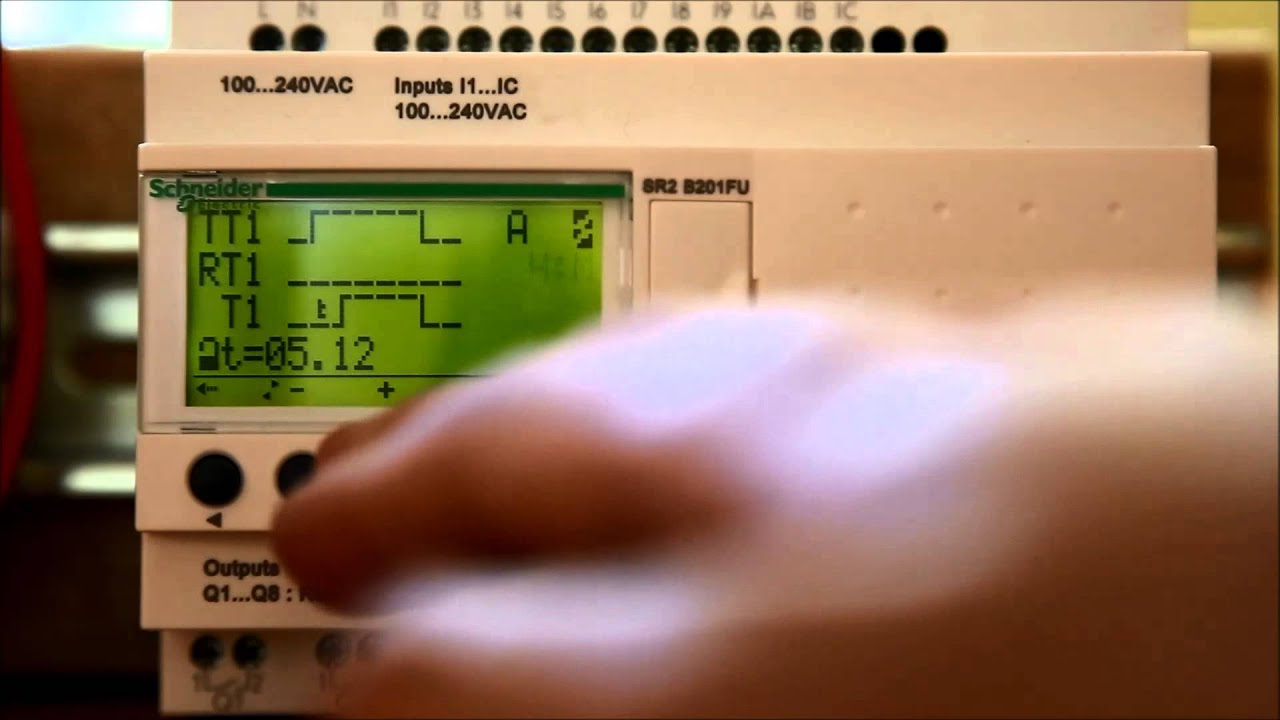 Change The Resolution Of A Timer Counter Relay On A Zelio Programmable Relay Youtube