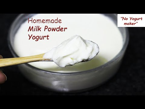 Make YOGURT With MILK POWDER - POWDERED MILK ''no Yogurt Maker''