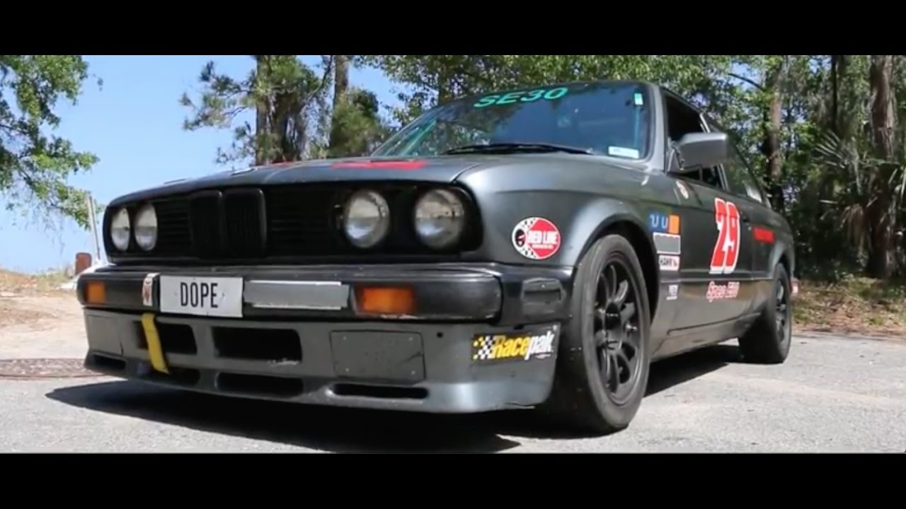 straight piped e30 bmw 325is 1987 race car  [ 1280 x 720 Pixel ]