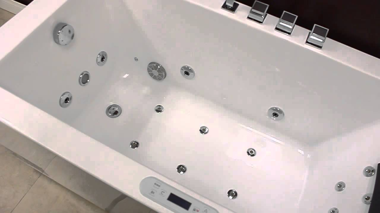 whirlpool bathtub.  Ariel Platinum AM154JDTSZ Whirlpool Bathtub YouTube