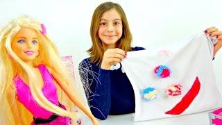 Видео с Барби. Новый наряд из старой майки. Приключения Барби - Мультики для девочек