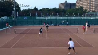 全日本ソフトテニス天皇杯皇后杯2015 男子 二回戦 花田花田ー玉沢伊藤