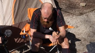 In camp with Gary Robbins at the Barkley Marathons