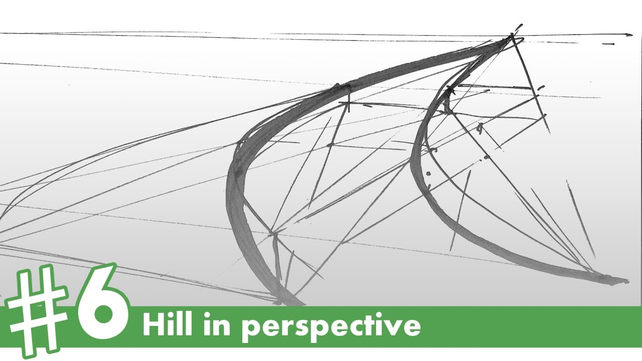 Hill In Perspective Drawing #6  How To Draw