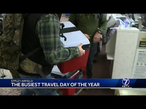Eppley Airfield Airport buzzing with travelers ahead of the holidays