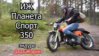 ИЖ Планета Спорт 350 /оранжевая мечта / эндуро / Дядя Жорик в лесу