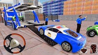 US Police Car Transport Truck 2019 - US Police Quad Bike Car Plane Transport  - Android Gameplay