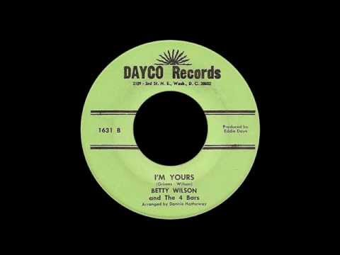 Betty Wilson And The 4 Bars - I'm Yours