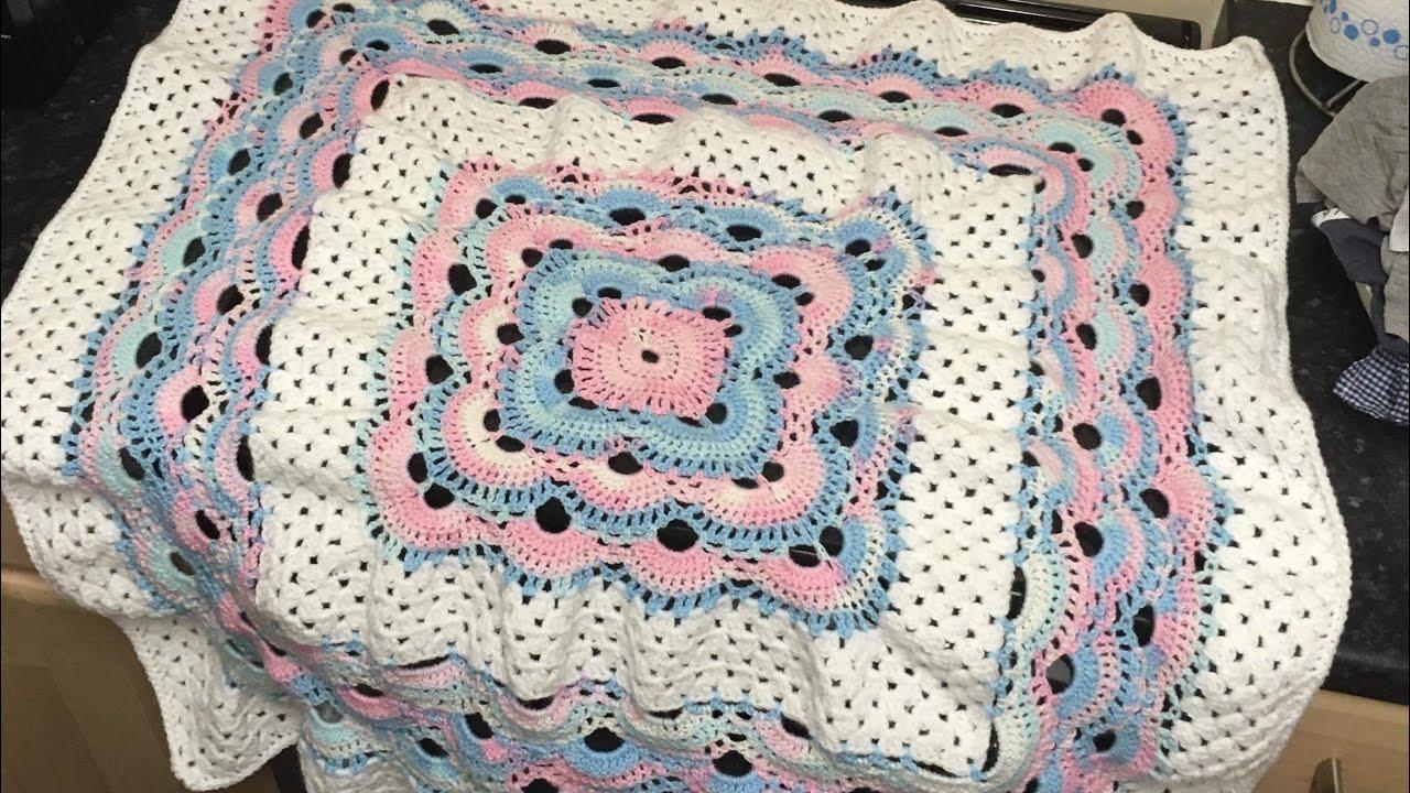 Crochet Virusgranny Blanket Tutorial Youtube