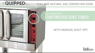 eQuipped Full Size Gas Convection Oven