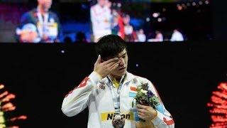 【Sun Yang】Men's 800m victory ceremony of FINA world championships in Barcelona