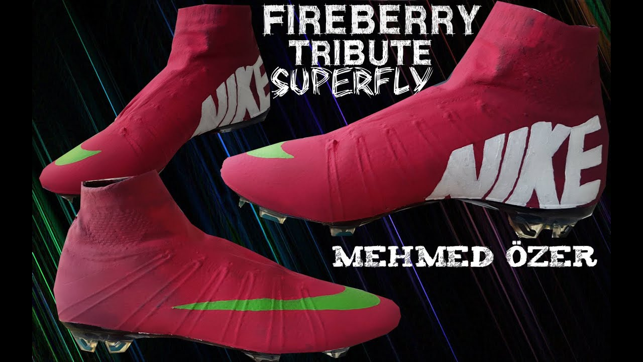 reputable site ff39c bb5da Nike Mercurial Superfly 6 Fireberry Tribute Custom Design