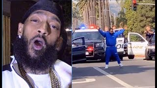 Nipsey Hussle's Artist BH Held At Gun Point By LAPD