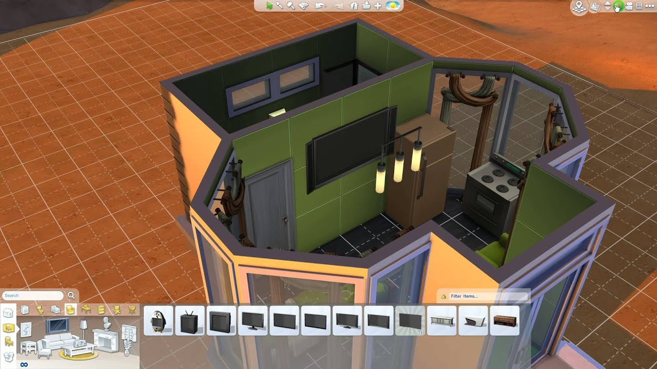 The sims 4 small house challenge youtube for Small house design sims 4