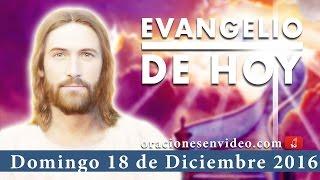 Evangelio de Hoy Domingo 18 de Diciemre 2016 se llevó a casa a su mujer