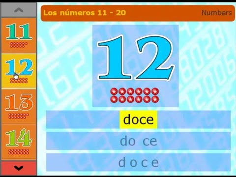 Los números 11 - 20 - Spanish numbers 11 to 20 - YouTube