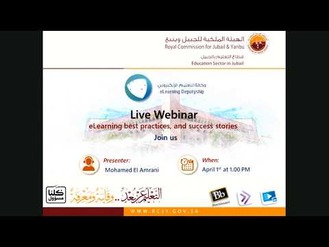 Live Webinar 1: ELearning Best Practices And Success Stories
