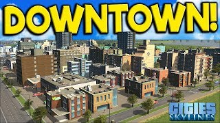 Starting on the Downtown Area & Forest Fire! - Cities: Skylines Campus Gameplay