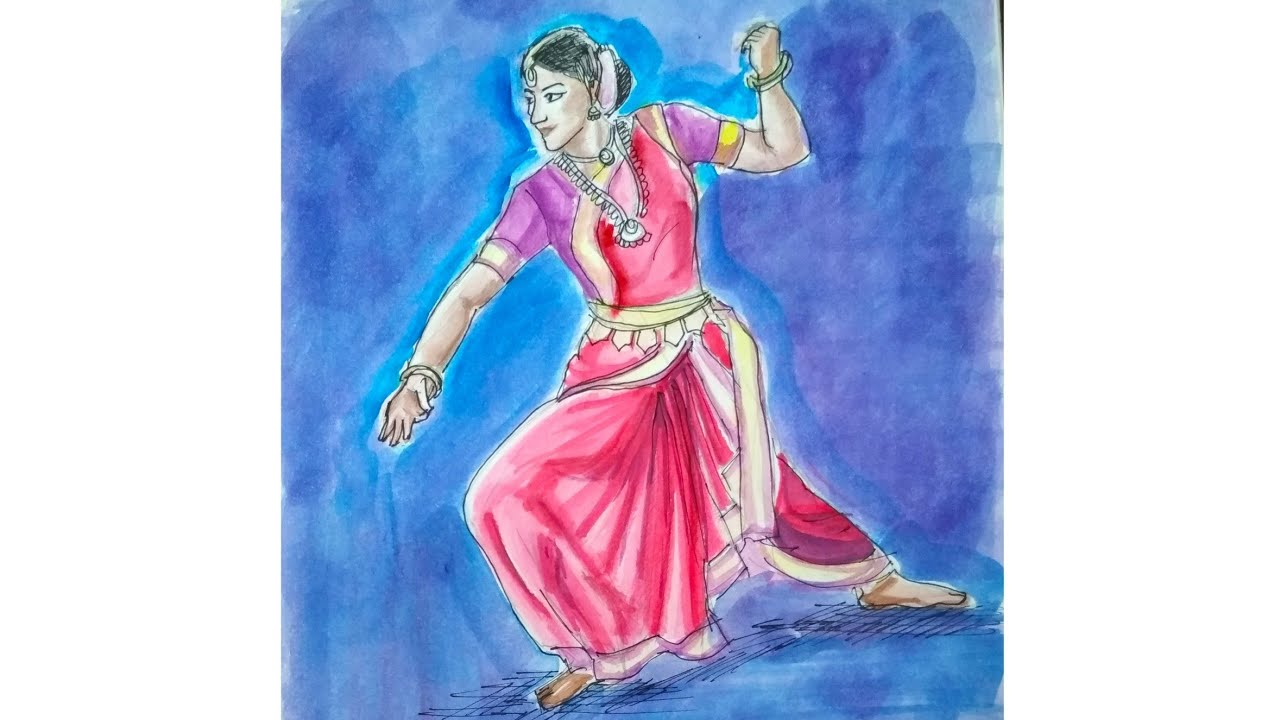 Indian Classical Dance Drawing | AVish Sketches | Drawing #20