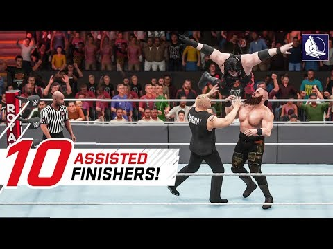 WWE 2K18 Top 10 Assisted Finishers!