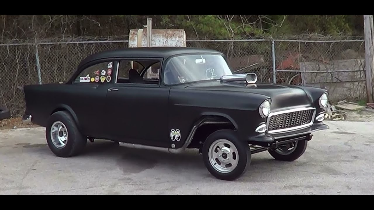 All Chevy 55 chevy for sale : 1955 Chevy Gasser - YouTube