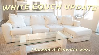 DO I REGRET IT?? White Couch Update from Wayfair | 8 Month Update