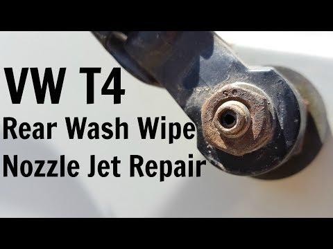 VW T4 Rear Wash Wipe Nozzle Jet Repair Volkswagen Transporter