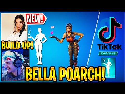"""Streamers React to *NEW* BELLA POARCH EMOTE """"BUILD UP"""" in Fortnite"""