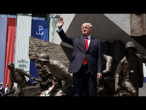 Trump's full speech to crowd in Poland