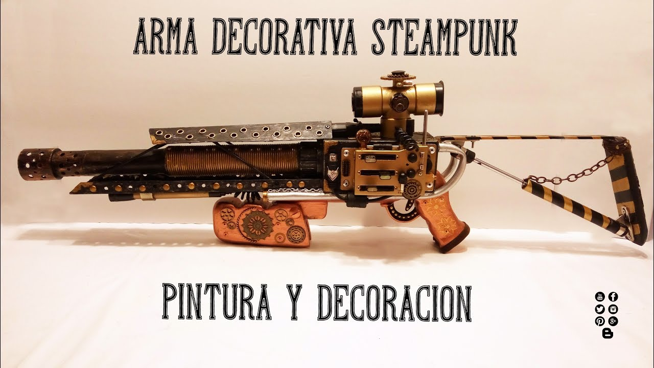 Armas Decorativas Arma Steampunk Decoración