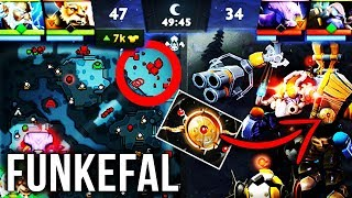 Funkefal TOP-1 Tinker - FASTEST HANDS In Dota 2 - New Aeon Disk Build - EPIC Gameplay