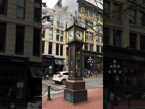 Steam Clock in Gas Town Vancouver, BC, Canada.